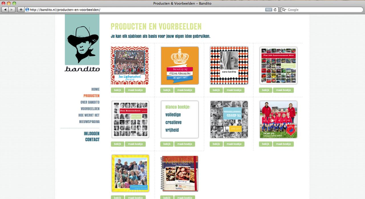 Bandito_Site_producten en voorbeelden