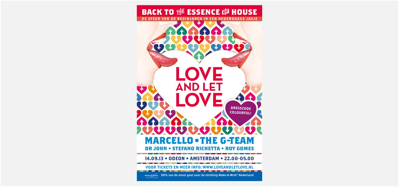 Love and let love house feest Odeon poster