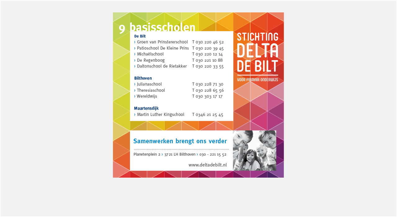 Stichting Delta de Bilt Advertentie