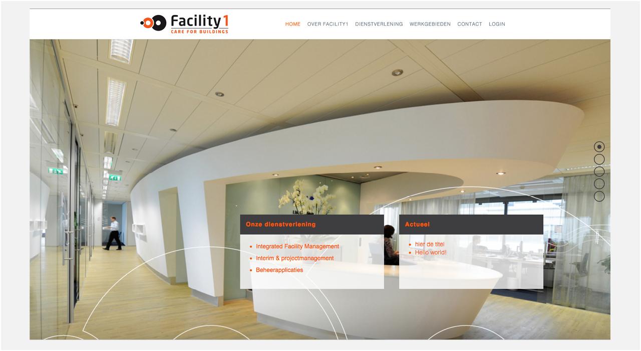 Facility1 homepage