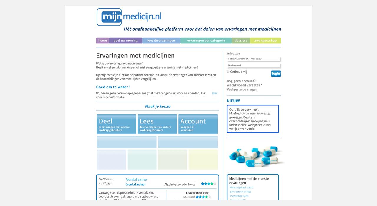 MijnMedicijn Homepage